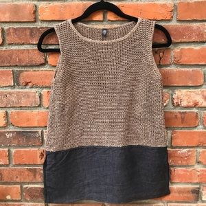 🌼Eleventy Knit Color-block Top